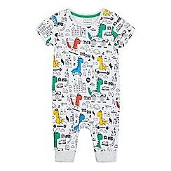 bluezoo - Baby boys' white dinosaur print romper suit