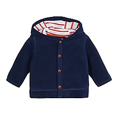 bluezoo - Baby boys' navy dinosaur spikes applique fleece jacket