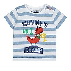 bluezoo - Baby boys' white striped t-shirt