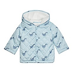bluezoo - Baby boys' light blue dinosaur print coat