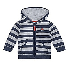 bluezoo - Baby boys' navy striped hooded jacket