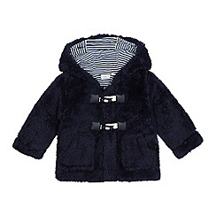 bluezoo - Baby boys' navy hooded fleece jacket