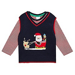 bluezoo - Baby boys' red Santa tank top and t-shirt set