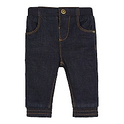 bluezoo - Baby boys' navy ribbed waist jeans