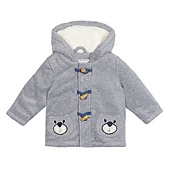 bluezoo - Baby boys' fleece bear applique coat