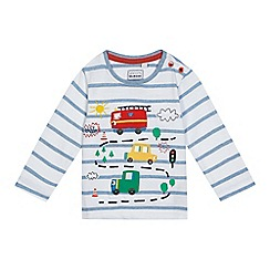 bluezoo - Baby boys' blue stripe applique car top
