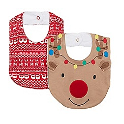bluezoo - Pack of two babies assorted bibs