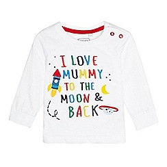 bluezoo - Children's white long sleeve 'To The Moon & Back' shirt