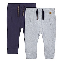 J by Jasper Conran - Pack of two baby boys' textured joggers