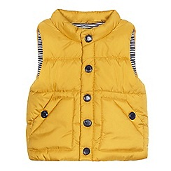 J by Jasper Conran - Baby boys' yellow padded gilet