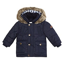 J by Jasper Conran - Baby boys' navy quilted padded coat