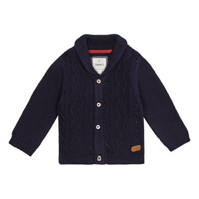 J by Jasper Conran Boys navy cable knit cardigan
