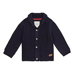 J by Jasper Conran - Boys' navy cable knit cardigan