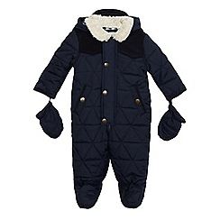 J by Jasper Conran - Baby boys' quilted padded snowsuit