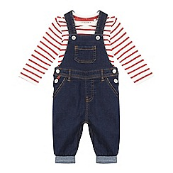 J by Jasper Conran - Baby boys' blue denim dungaree set