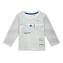J by Jasper Conran - Baby boys' striped print whale applique top