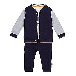 J by Jasper Conran - Baby boys' blue jacket, top and bottoms set