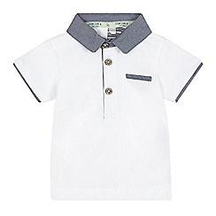 J by Jasper Conran - Baby boys' white chambray collar polo shirt
