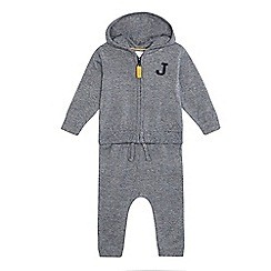 J by Jasper Conran - Baby boys' navy knitted hoodie and jogging bottoms set
