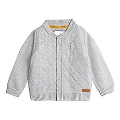 J by Jasper Conran - Babies grey diamond knit bomber jacket