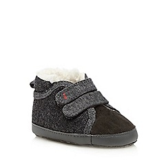J by Jasper Conran - Baby boys' grey herringbone texture boots