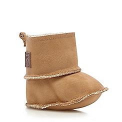Mantaray - Boys' light tan faux suede booties
