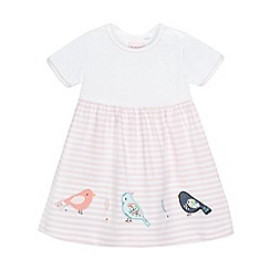 bluezoo - Baby girls' pink applique bird dress