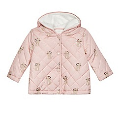bluezoo - Baby girls' pink cat print coat