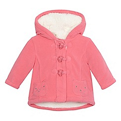 bluezoo - Baby girls' fleece cat applique coat