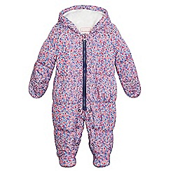 bluezoo - Baby girls' multi-coloured ditsy floral print snowsuit