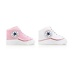 Converse - Babies white pack of two bootie socks