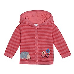 bluezoo - Baby girls' pink hedgehog cardigan