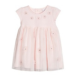 bluezoo - Baby girls' pink flower applique dress