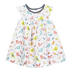 bluezoo - Baby girls' white bird print dress