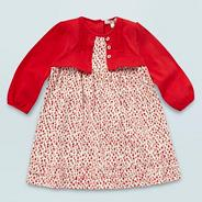Designer Babies red mock 2 in 1 dress set