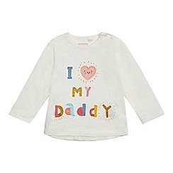 bluezoo - Baby girls' cream 'daddy' top