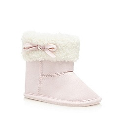 bluezoo - Light pink shearling lined booties