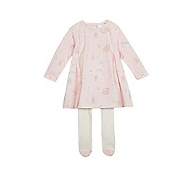 bluezoo - Baby girls' pink printed top with tights