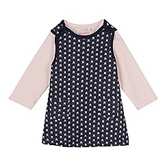 bluezoo - Baby girls' blue star print dress and t-shirt