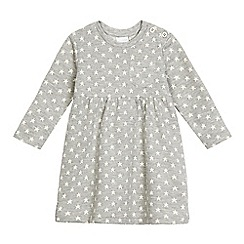 bluezoo - Baby girls' grey star patterned dress