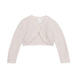 bluezoo - Girls' pink cropped cardigan