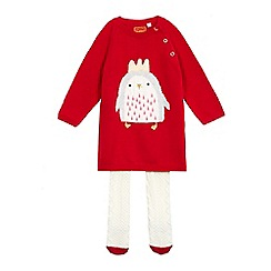 bluezoo - Baby girls' red penguin print dress