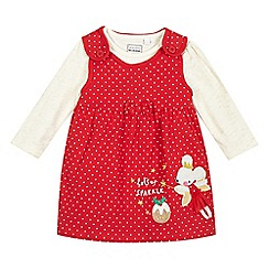 bluezoo - Baby girls' red mouse print dress and top set
