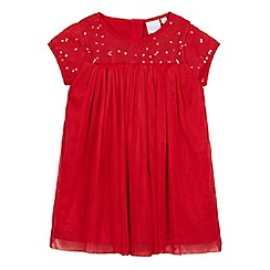 bluezoo - Baby girls' red sequinned dress