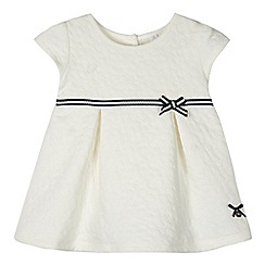 J by Jasper Conran - Baby girls' white floral quilted dress