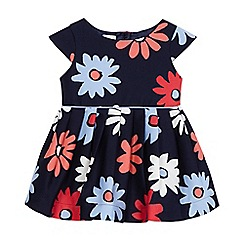 J by Jasper Conran - Baby girls' navy flower print dress