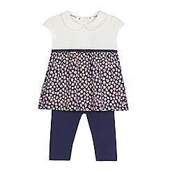 J by Jasper Conran - Girls' navy floral leggings and tunic set