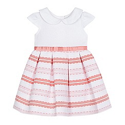 J by Jasper Conran - Baby girls' white textured stripe dress