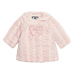 J by Jasper Conran - Baby girls  pink faux fur coat