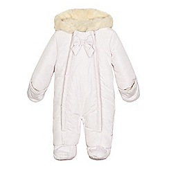 J by Jasper Conran - Baby girls' white bow detail snowsuit